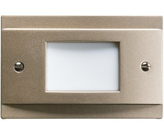 Kichler 12665NI Step and Hall 120V LED Step Light Non-Dimmable, Brushed Nickel