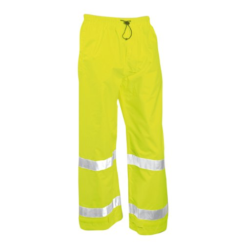 Fluorescent Yellow Green (VISION P23122.MD 7mm Breathable Polyurethane Hi-Vis Pants with Reflective Tape, Medium, Fluorescent Yellow/Green)