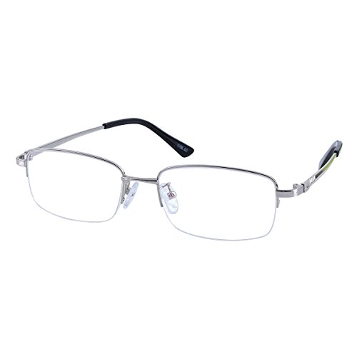 Nearsighted Metal Myopia Glasses Everyday Use Mens Womens -1.25 Silver Distance Spectacles (NOT Reading Glasses)