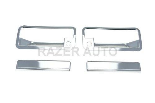 1993 Chevrolet C/k Pickup (Razer Auto 1988-1998 CHEVY CHEVROLET C/K PICKUP / 1992-1995 CHEVY CHEVROLET BLAZER / CHROME DOOR HANDLE COVER 2D W/ PASSENGER SIDE KEYHOLE)