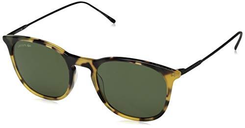 Lacoste Men's L879s Oval Sunglasses, Tortoise, 52 -