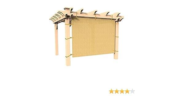 easy2hang Durable Parasol privacidad Panel con cuerda para pérgola, Side lámpara de pared para Instant toldo o Gazebo, tela, Wheat, 10x6.5: Amazon.es: Deportes y aire libre