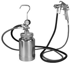 Astro 2PG8S 2 Quart Pressure Pot with Silver Gun and Hose