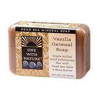 One With Nature Dead Sea Minerals Bar Soap Vanilla Oatmeal - 7 oz