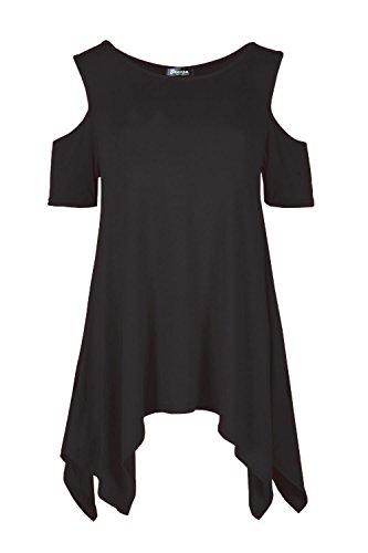 Cold Hanky Tunic 26 Baggy Ladies Shirt 8 Dress Cut Womens Shoulder Out Top wqzUTAOp