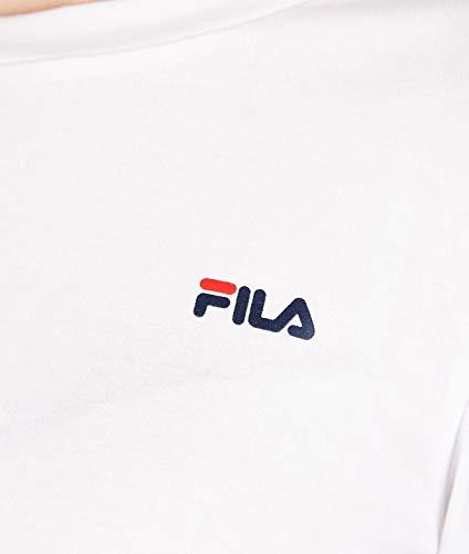 687085m67 Algodon Blanco Fila Mujer shirt T 67wwRq
