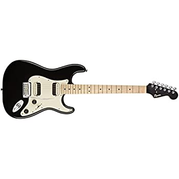 Squier by Fender Contemporary Stratocaster Electric Guitar - HH - Maple Fingerboard - Black Metallic