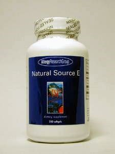 Allergy Research Group- Natural Source E 400 iu 120 gels by Allergy Research Group