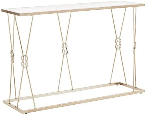 HomeHills May Champagne Gold Knot Frame Sofa Table