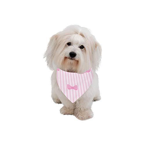 WUwuWU Dog Scarf Pink Design Flamingo Girl Ins Wind Printing Dog Bandana Triangle Kerchief Bibs Accessories for Large Boy Girl Dogs Cats Pets Birthday Party Gift ()