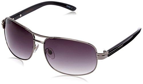 Dockers Men's Pilot 10225752.JCP Square Sunglasses, Gun, 60 - Dockers Sunglasses