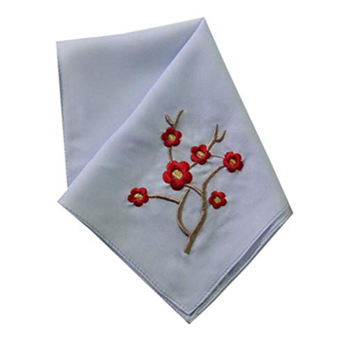 Embroidery Handkerchiefs Chinese (Set of 2 Chinese Style Ladies/Women's Embroidered Handkerchiefs, Pattern-18)