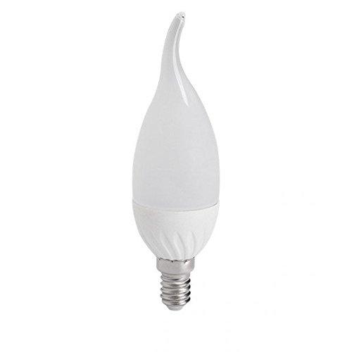 Duralamp-Bombilla led E14, diseño de vela, 4,5 w eq. (35 w) neutro, color blanco de iluminación: Amazon.es: Iluminación