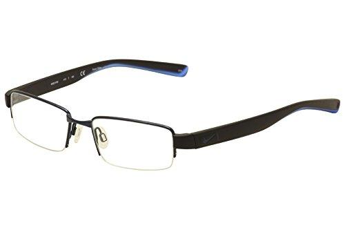 NIKE Eyeglasses 8165 413 Satin Blue/Black/Photo Blue 50MM