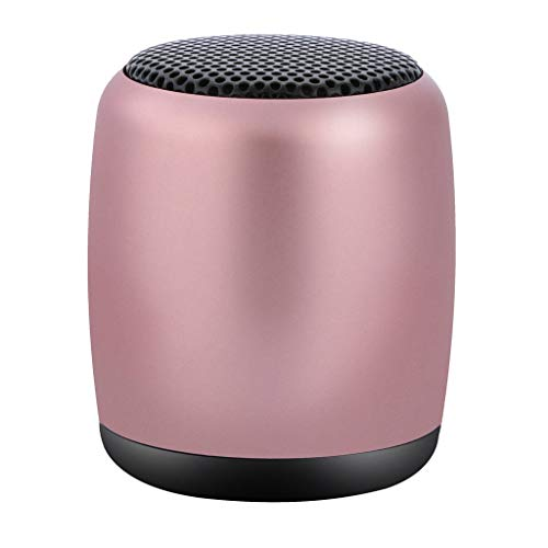 Saying Simple Style Wireless Bluetooth Speaker Music Player for Outdoor Activities Beach, Boating, Hiking (Rose Gold)