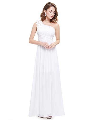 Ever Pretty Womens Ruched Bust Empire Waist Formal Beach Wedding Dress 12 US White