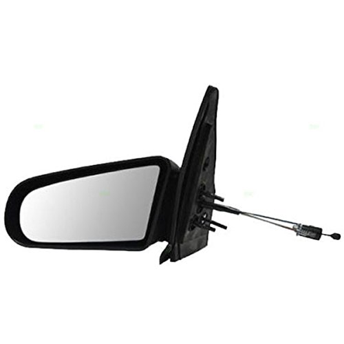 [1991-1995 Saturn S Series (SL, SL1, SL2) 4-Door Sedan & 1993-1995 Saturn (SW1, SW2) Wagon Manual Remote Cable Black pain to match Fixed Non-Folding Rear View Mirror Left Driver Side (1991 91 1992 92 1993 93 1994 94 1995 95)] (1991 Saturn S Series)