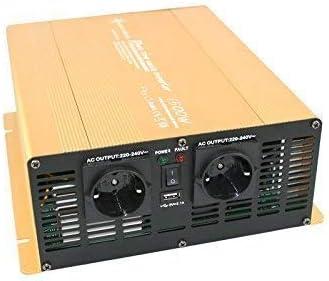 Wechselrichter Spannungswandler 12v 300 Bis 3000 Watt Reiner Sinus Mit Echtem Power Usb 2 1a Gold Edition 1500 3000 Watt Baumarkt