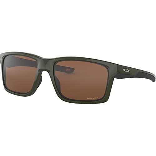 Oakley Men's OO9264 Mainlink Rectangular Sunglasses, Military Green/Prizm Tungsten, 61 mm