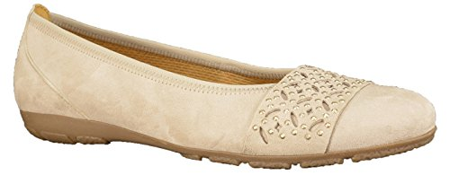 d'air 37 coussin semelle GABOR 40 Ballerine 160 Femme 44 10 à nubuck Beige beige cuir tailles Uq8OPFv