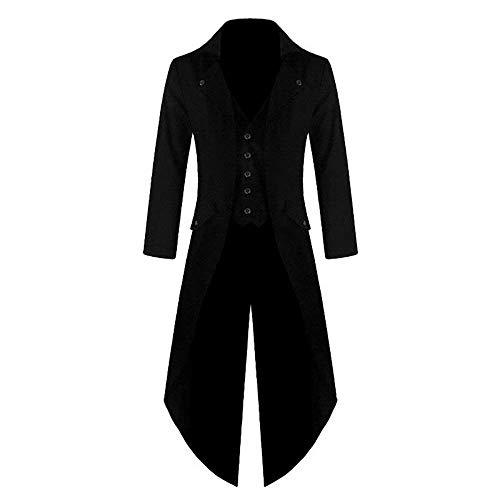 Cosplay Chaqueta Steampunk Battercake Victoriana Cómodo Jacket Chaqueta Tuxedo Gothic Long Uniform Punto Schwarz De Vintage Coat w1dtd0q