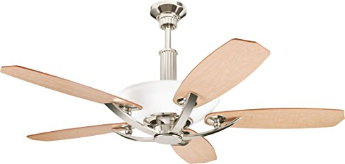 Monte Carlo Polished Ceiling Fan - Kichler 300126PN 56-Inch Palla Fan, Polished Nickel