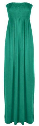 Xclusive Collection - Vestido - plisado - Básico - para mujer Jade Green