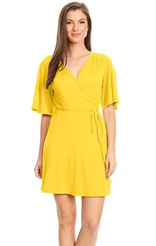 Best Deals On Plus Size Yellow Dress With Sleeves Products