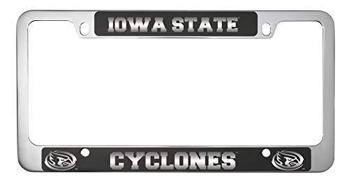 Iowa State University -Metal License Plate Frame-Black (State Frame University Iowa)