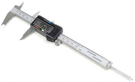 HFS (R) 0-6'' STAINLESS STEEL 4 WAY DIGITAL CALIPER .001'' SHOCK PROOF NEW ; PLASTIC CASE