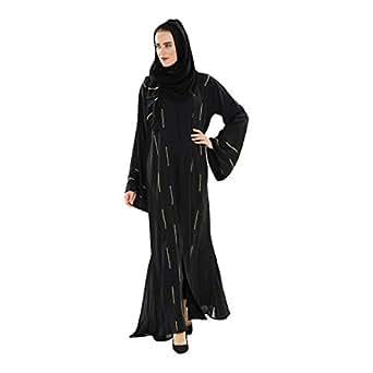 Yasmin Black Casual Abaya For Women