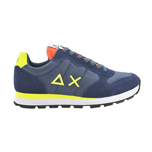 Blue Uomo Sun68 Running Sneakers Fluo Navy Z19102 Tom Sun Nylon Adult 68 qgt4tH