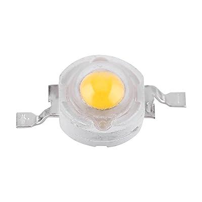 Acogedor 50pcs High Power Led Chip SMD COB 1W Cool/Warm White LED Bead Emitters Bulb Chip for DIY Floodlight Spotlight (Warm White)