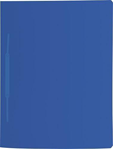 Brunnen 102015033 Schnellhefter FACT!pp azurblau A4, aus transluzentem PP, mit Namensschild, mit Einstecktasche innen