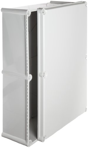 BUD Industries NBD-15456 Style D Plastic Outdoor Box with Solid Door, 22-5/64'' Length x 14-31/32'' Width x 7-1/32'' Height, Light Gray Finish by BUD Industries