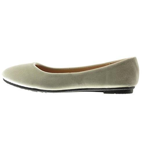 Angkorly - Chaussure Mode Ballerine slip-on femme Talon plat 1 CM - Beige