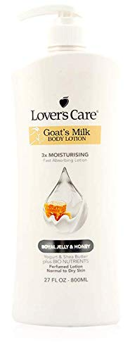 Lover's Care Goat's Milk Body Lotion 3X Moisturizing for Dry Skin - Royal Jelly & Honey - 27.05 Fl. Oz