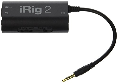 IK Multimedia iRig 2 Guitar Interface Adaptor for iPhone, iPod Touch & iPad (IPIRIG2PLGIN)