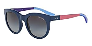 Armani Exchange AX4053S Sunglasses 81928G-51 - Blue Frame, Grey Gradient