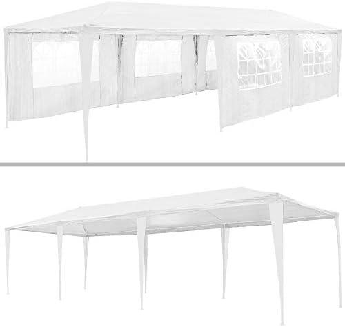 TecTake 800085 - Carpa Pabellón de Jardín, Tienda de 9x3m, Ideal para Eventos y Fiestas (Verde | No. 401292): Amazon.es: Jardín