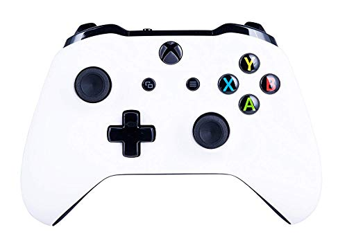Xbox One S Wireless Controller for Microsoft Xbox One - Soft Touch White X1 - Added Grip for Long Gaming Sessions - Multiple Colors Available