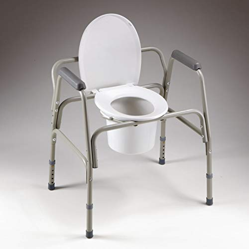 Homecraft Heavy Duty 3-in-1 Commode, Safety Frame and Raised Toilet Seat, 350 lb. Capacity