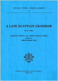 Late Egyptian Grammar (Studia Pohl : Series Maior, Vol 4) by Gregorian & Biblical Press