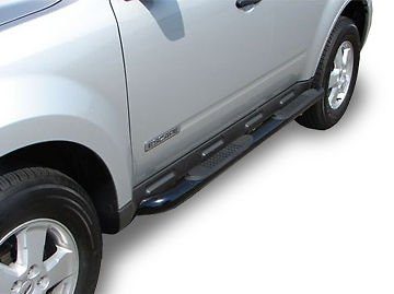 E Series 3' Nerf Bar - STEELCRAFT 240960 2013-2017 NISSAN PATHFINDER (Excl. Platinum Series) / INFINITY QX60 3' SIDEBARS BLACK Side Step Nerf Bar Running Board