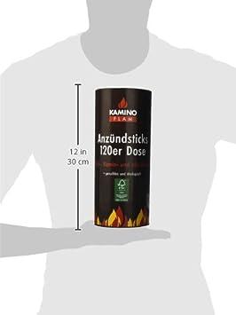 Kamino - Flam - Juego de pastillas de encendido (120 unidades), Pastillas para chimenea, estufa, caldera y barbacoa, Pastillas ecológicas sin olor, ...