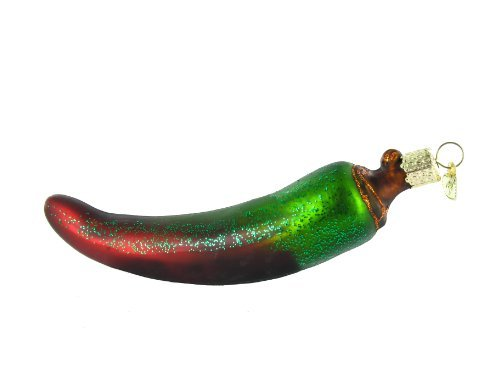 (Old World Christmas Ornaments: Assorted Chili Peppers Glass Blown Ornaments for Christmas Tree (28070))