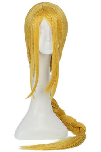 [Princess Wig Cosplay Zelda Costume Golden LongHair Accessories Halloween Coslive] (Princess Zelda Cosplay Costume)
