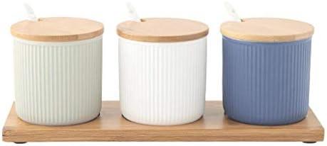 スパイス収納オーガナイザーボックス、キッチン家庭用調味料コンテナセラミック調味料の瓶、ソルトシェーカーコンビネーションストレージボックス
