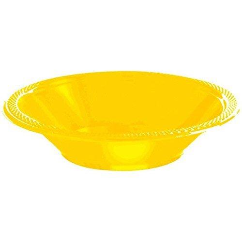 Amscan 43034.09 Plastic Bowls 12oz. Yellow Sunshine -