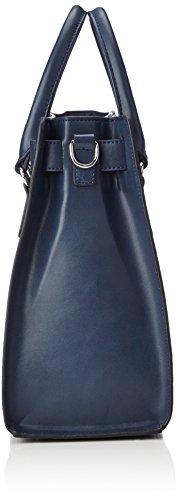 L.CREDI Damen Iris Henkeltasche, Blau (Marine), One Size